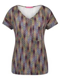 Studio Anneloes ROLLER MISSONI TOP 01173 T-Shirt Korte mouw 6938 dark blue/burgundy