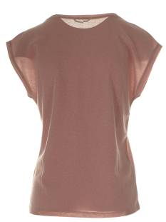 Only ONLSILVERY S/S V NECK LUREX TOP Rose