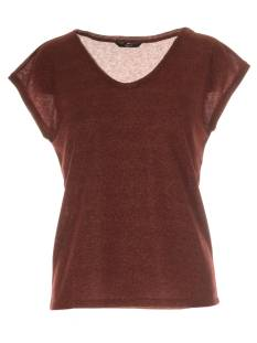 Only Shirt en Top Only ONLSILVERY S/S V NECK LUREX TOP T-Shirt Korte mouw sun-dried tomato