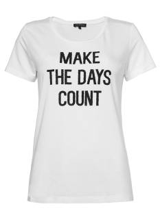 Tramontana Shirt en Top Tramontana D35-84-402 MAKE THE DAYS T-Shirt Korte mouw 1100 off white
