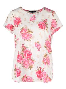 Vero Moda VMWILD FLOWER SS TOP T-Shirt Korte mouw snow white 10190558