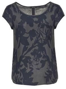Opus Shirt en Top Opus FLINKA SHADOW BLUSE T-Shirt Korte mouw 8068 grace grey