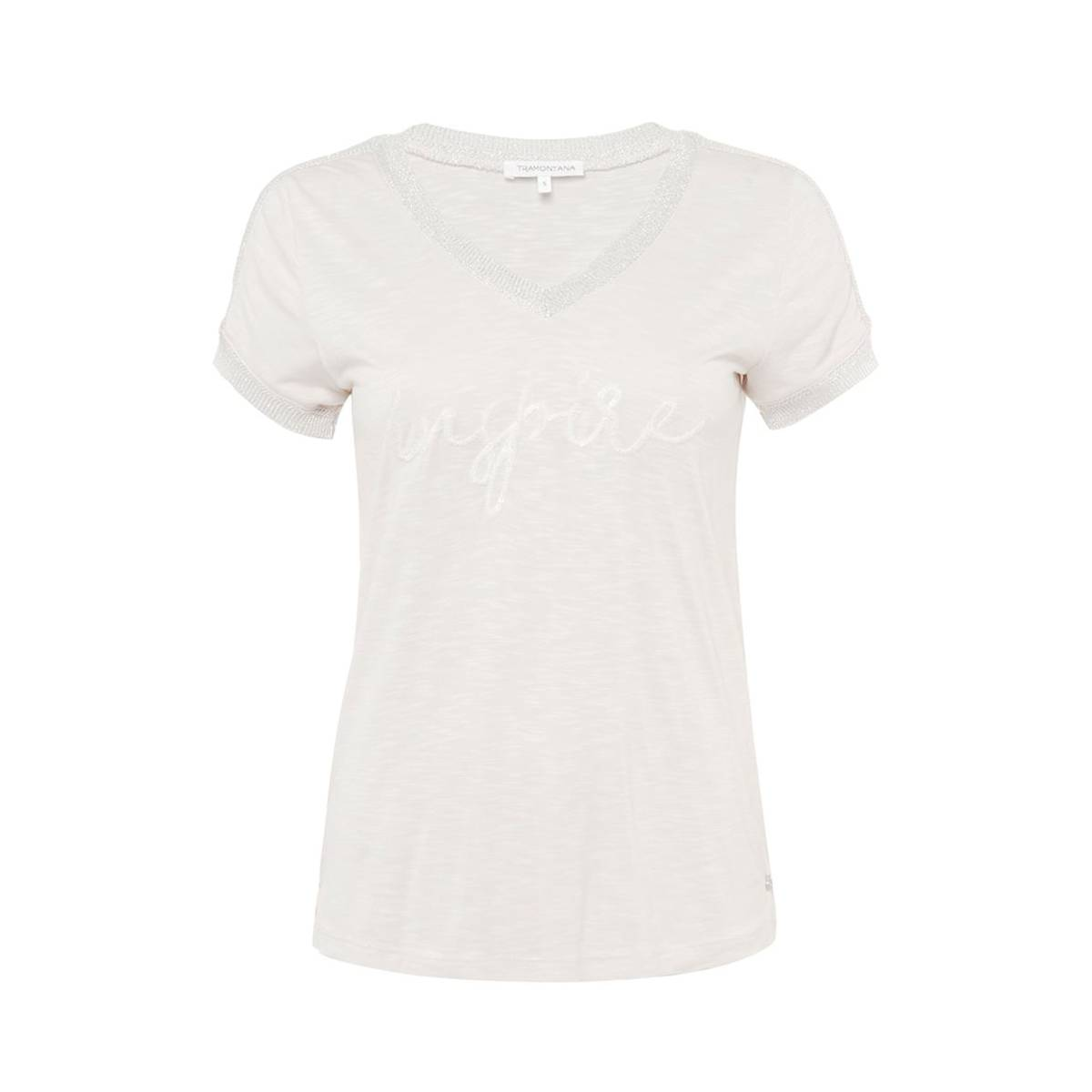 Tramontana D17-87-401 T-SHIRT FANCY RIB Wit