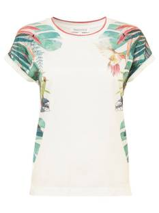 Tramontana Shirt en Top Tramontana D23-87-402 T-SHIRT TROPICAL T-Shirt Korte mouw 1100 off white