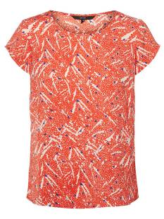 Vero Moda Shirt en Top Vero Moda VMMARY SASHA SS TOP LCS T-Shirt Korte mouw fiery red 10214479