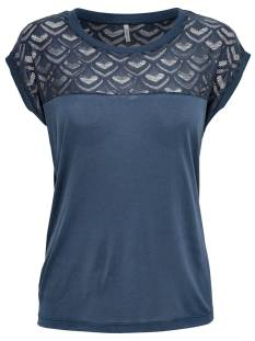 Only Shirt en Top Only ONLNICOLE SS MIX TOP T-Shirt Korte mouw night sky 15151008