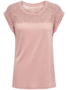 Only Shirt en Top Only ONLNICOLE SS MIX TOP T-Shirt Korte mouw misty rose 15151008