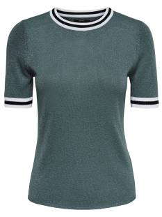 Only Shirt en Top Only ONLKAMILLA 2/4 PULLOVER KNT T-Shirt Korte mouw balsam green 15140057