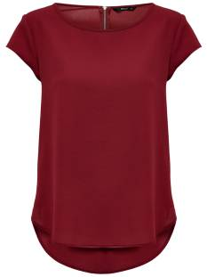 Only Shirt en Top Only ONLVIC SS SOLID TOP T-Shirt Korte mouw merlot 15142784