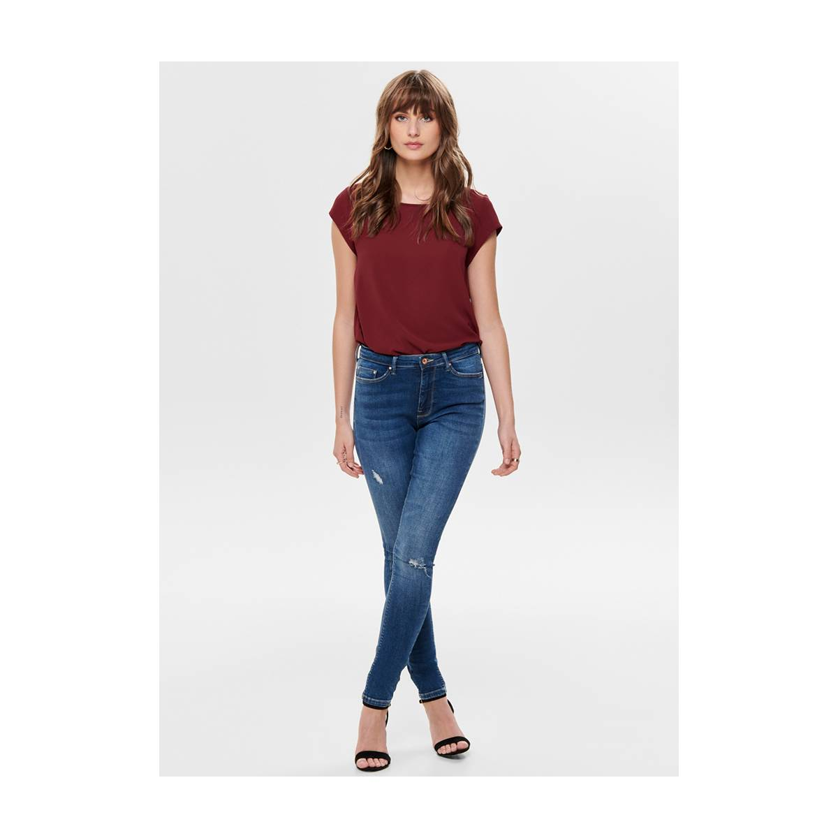 Only ONLVIC SS SOLID TOP Rood