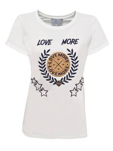 Elvira Shirt en Top Elvira E4 19-018 T-SHIRT LOVE T-Shirt Korte mouw off white