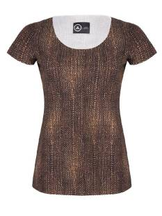 Jane Lushka Shirt en Top Jane Lushka US619AW20 T-SHIRT T-Shirt Korte mouw animal brown