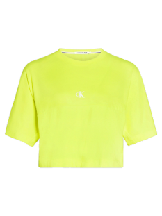 Calvin Klein Shirt en Top Calvin Klein J20J214434 PUFF PRINT BACKLOGO T-Shirt Korte mouw zaa safety yellow