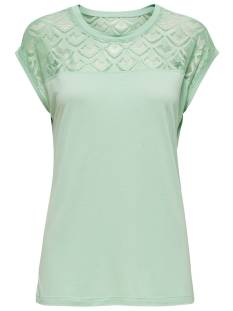Only ONLNICOLE S/S MIX TOP T-Shirt Korte mouw aqua foam 15151008