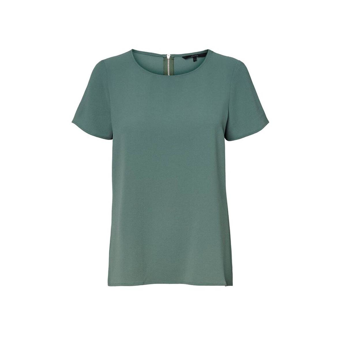 Vero Moda VMSASHA SS ZIP TOP COLOR Groen