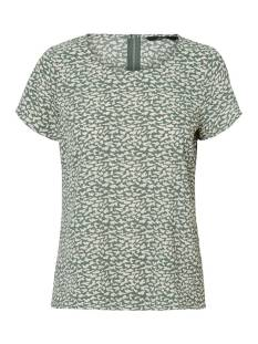 Vero Moda Shirt en Top Vero Moda VMSASHA SS ZIP TOP COLOR T-Shirt Korte mouw laurel wreath kira 10225336