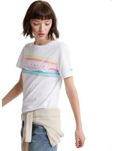 Superdry W1010094B RAINBOW T-SHIRT T-Shirt Korte mouw 01c optic