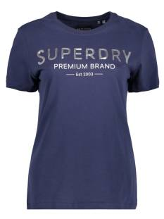 Superdry W1010006A SEQUIN ENTRY TEE T-Shirt Korte mouw gkv atlantic navy