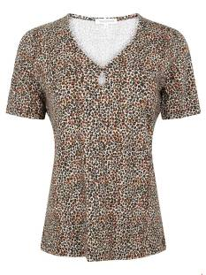 Tramontana Shirt en Top Tramontana D12-95-402 T-SHIRT MINI LEOPARD T-Shirt Korte mouw 9999 multi colour