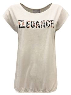 Elvira Shirt en Top Elvira E2 20-020 T-SHIRT ELIF T-Shirt Korte mouw white-peach