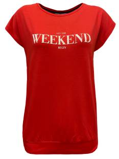 Elvira Shirt en Top Elvira E2 20-002 T-SHIRT SARAH T-Shirt Korte mouw red