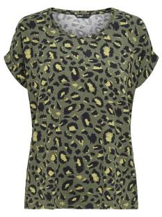 Only Shirt en Top Only ONLMOSTER AOP S/S TOP T-Shirt Korte mouw grape leaf/green leo 15182852