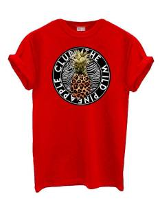 Azuka Shirt en Top Azuka PINE APPLE TEE T-Shirt Korte mouw rood