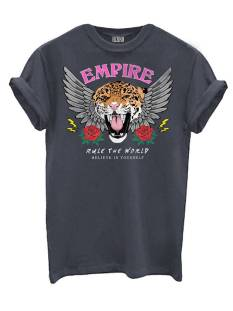Azuka Shirt en Top Azuka T-SHIRT EMPIRE PRINT T-Shirt Korte mouw dark grey