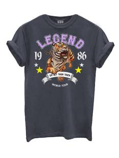 Azuka T-SHIRT AZUKA LEGEND PRINT T-Shirt Korte mouw dark grey