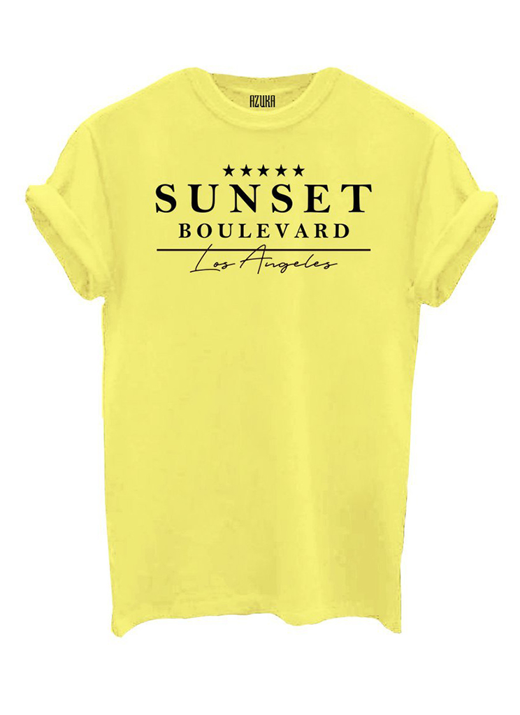 Azuka dames Shirts en Tops AZUKA T-SHIRT SUNSET XL Geel