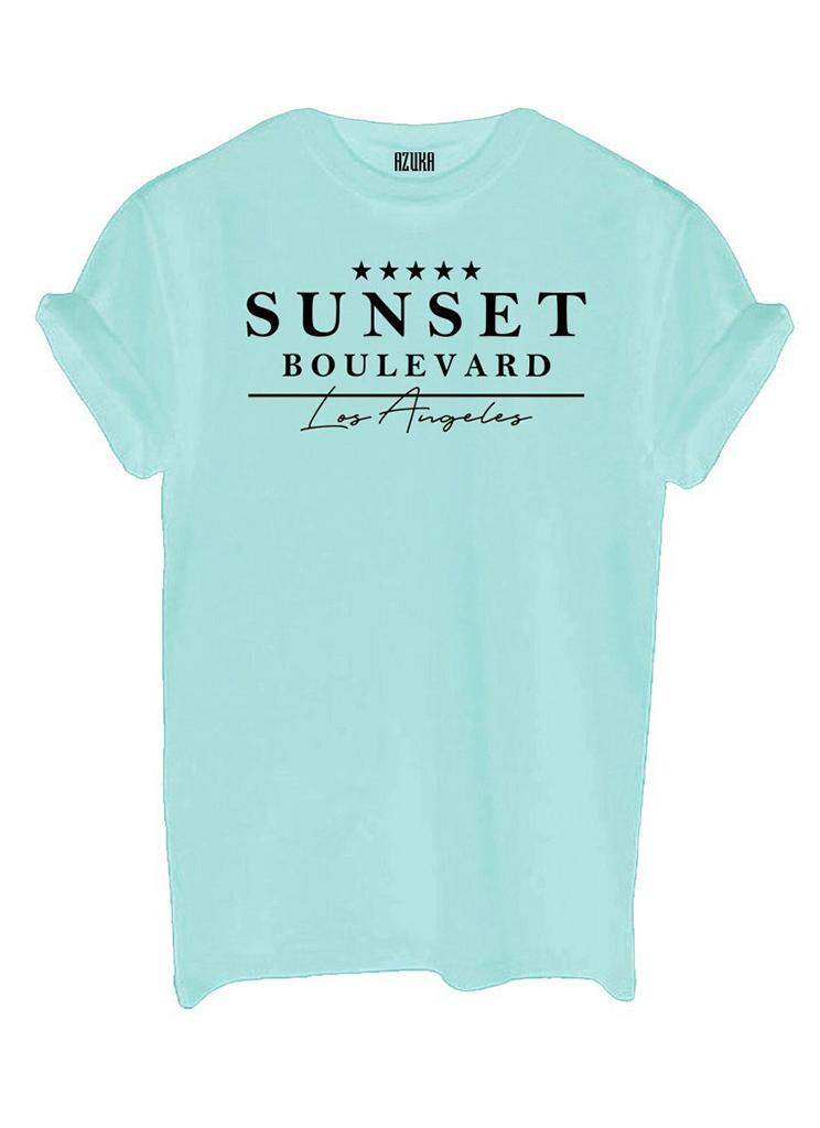 Azuka dames Shirts en Tops AZUKA T-SHIRT SUNSET L Groen