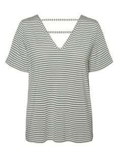 Vero Moda VMPOLLY SS TOP JRS T-Shirt Korte mouw snow white laurel 10230884