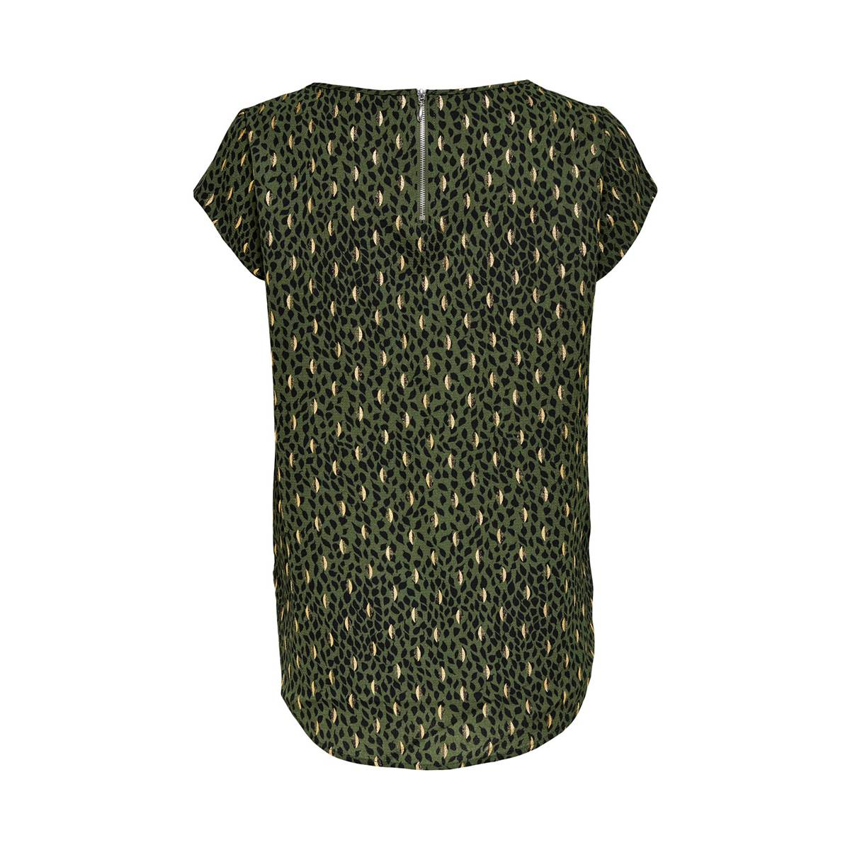 Only ONLVIC S/S DETAIL TOP Groen