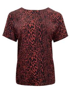 Elvira Shirt en Top Elvira E4 20-49 TOP LIANNE T-Shirt Korte mouw 761 cognac animal print
