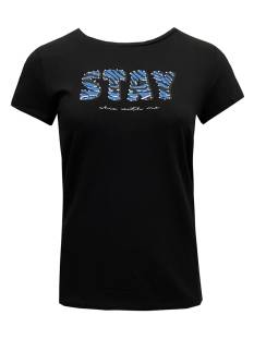 Elvira E1 21-001 T-SHIRT STAY T-Shirt Korte mouw 788 black-ice blue