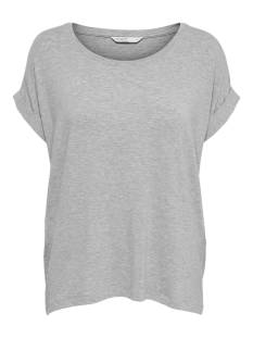 Only Shirt en Top Only ONLMOSTER S/S O-NECK TOP NOOS JR T-Shirt Korte mouw light grey melange 15106662