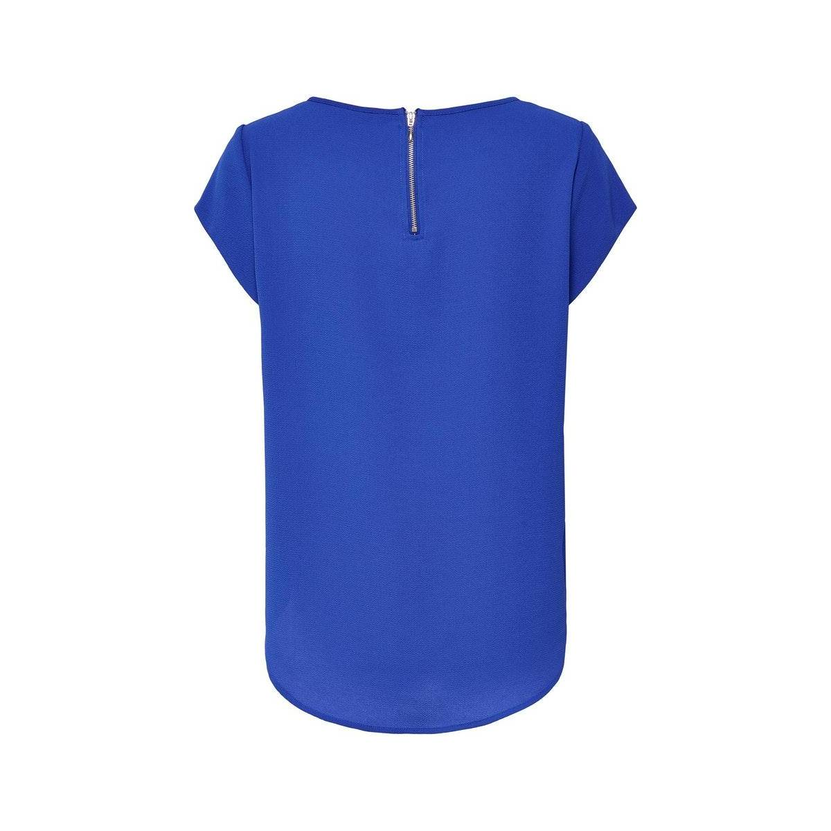 Only ONLVIC S/S SOLID TOP NOOS WVN Blauw