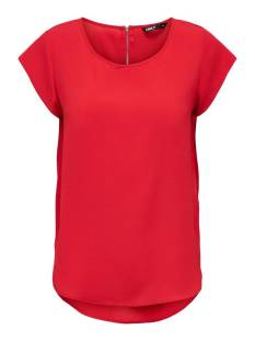Only ONLVIC S/S SOLID TOP NOOS WVN T-Shirt Korte mouw high risk red 15142784