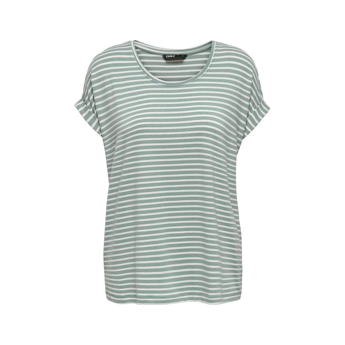 Only ONLMOSTER STRIPE S/S O-NECK TOP Groen