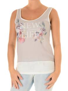 Only Shirt en Top Only ONLDREAM A LITTLE SL MIX TOP Topjes en Singlets cloud dancer comb 2