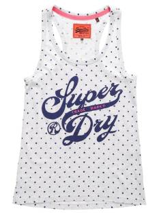 Superdry Shirt en Top Superdry G60013HO TRADE MARKED ENTRY Topjes en Singlets ice marl dot aq9