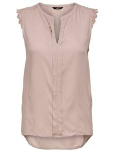 Only Shirt en Top Only ONLKIMMI S/L TOP WVN Topjes en Singlets adobe rose 15157656