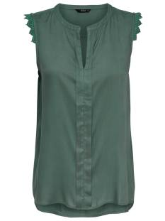 Only Shirt en Top Only ONLKIMMI S/L TOP WVN Topjes en Singlets balsam green 15157656