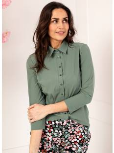 Studio Anneloes Blouse Studio Anneloes Poppy shirt 3/4 sleeve 04577 Blouse 7900 meadow green