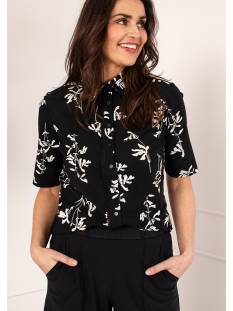 Studio Anneloes Poppy flower SS shirt 04562 Blouse 9015 black/ecru