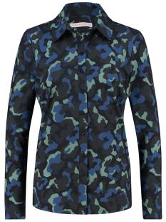 Studio Anneloes Blouse Studio Anneloes Poppy camo shirt 04852 Blouse 6979 darkblue/meadow green