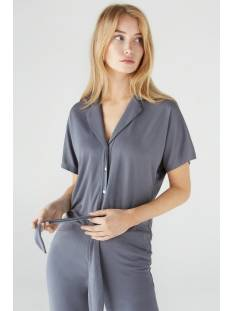 Simple Blouse Simple YZZE PIQUE-HEAVY-02 Blouse mid grey