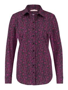 Studio Anneloes Poppy small flower blouse 05098 Blouse 9058 black/fuchsia