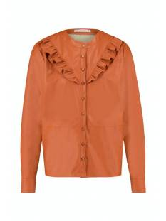 Studio Anneloes Blouse Studio Anneloes Odelia faux leather blouse 05344 Blouse 3301 abricot
