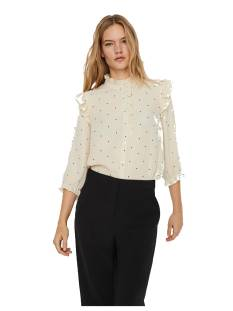 Vero Moda VMMARLEY 3/4 SHIRT WVN Blouse birch aop black dots 10240212